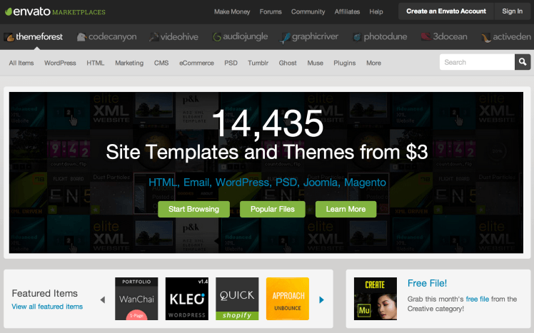 Themeforest Website Screenshot